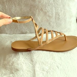 Banana Republic Sandals, Nude with Silver Sz 8.5